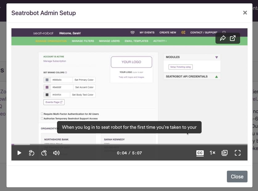 Click for admin setup video