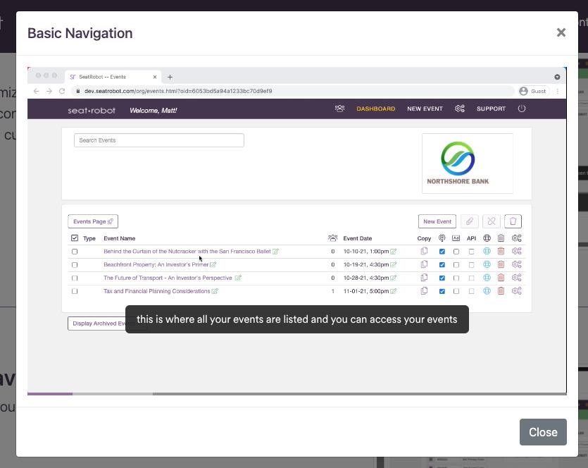 Click for basic platform navigation video
