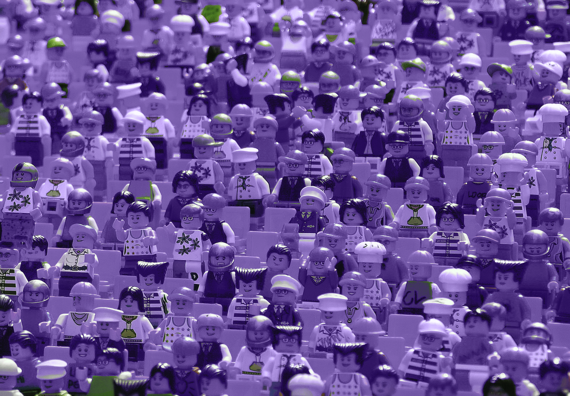 Crowd of lego people