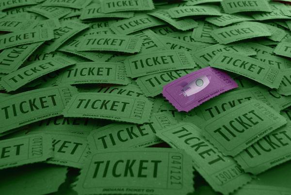 Pile of ticket stubs