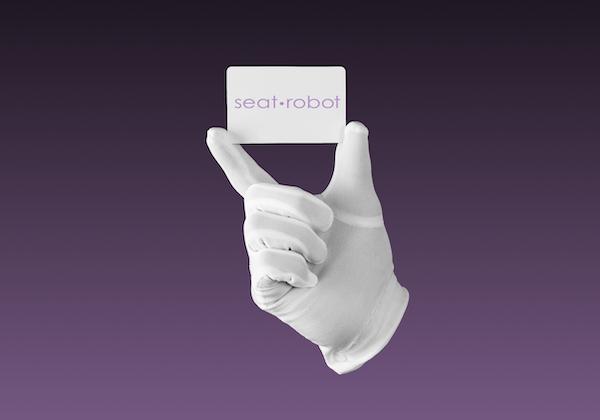 White gloved hand